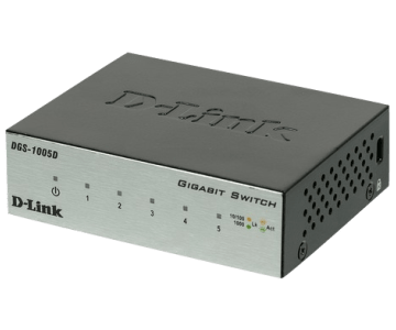 Гигабитный коммутатор D-Link DGS-1005D