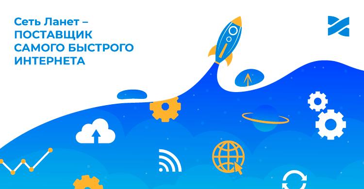 Сеть Ланет признано поставщиком самого быстрого Интернета в Украине по версии Ookla