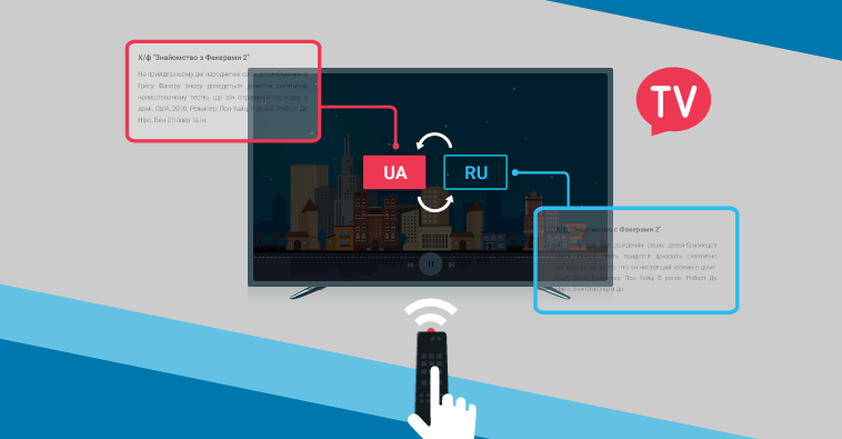 Мережа Ланет запустили двомовну телепрограму