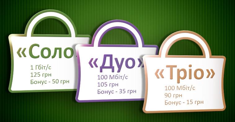 Нові тарифні пакети Інтернет+ТБ