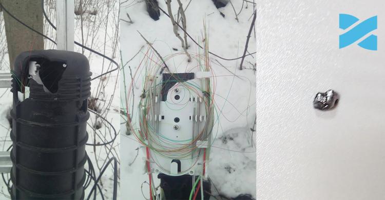 Внаслідок умисного пошкодження обладнання Мережі Ланет був відсутній Інтернет
